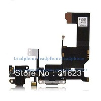 Headphone Audio Jack Charge Data Dock Port Flex cable for iPhone 5 5G + Free Anti-dust plug