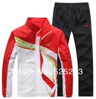 Spring / autumn new men's sports suit hit the color outdoor basketball clothes suit running fitness couple outdoor sportswear