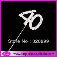 50pcs/lot 12CM each Style Fashion Rhinestone Cake Topper,Monogram Rhinestone Number CT99