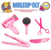 HOT 5pcs/set baby girl simulation make up set toy Hair Tools kids Pretend Play Classic Toys Educational&Learning Toy children