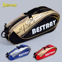 Quality badminton bag 6 double-shoulder back badminton bag