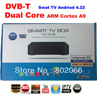 2014  Free Shipping 1080p  Dual core 8726MX DVB t receiver  Android 4.22 TV BOX Google TV Box IPTV hd andriod dvb-t