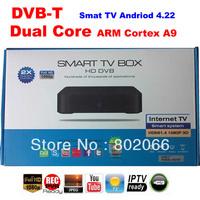 2014  Free Shipping 1080p  Dual core 8726MX DVB t receiver  Android 4.22 TV BOX Google TV Box IPTV hd andriod dvb-t