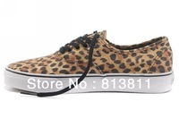 2013 Fashion Brown Grey Leopard Print Sneakers For Women Men Designer Women's Men's Sportswear Canvas Shoes Size 35-45