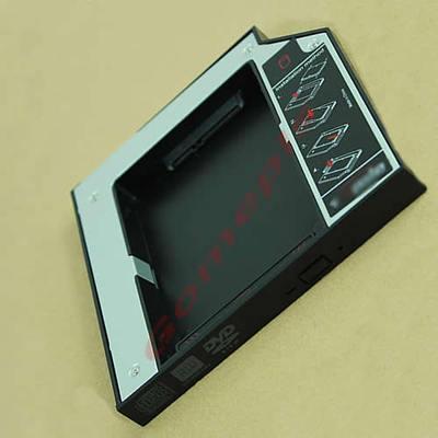 B39New Universal 12.7mm PATA IDE to 2nd SATA HDD Hard Drive Disk Caddy Module(China (Mainland))
