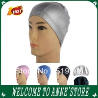 New year nylon Waterproof soft swimming cap swim cap men and women pu swimming hat /free shipping