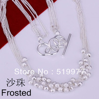 JN001 Promotion! lowest price wholesale 925 sterling silver necklace, 925 silver fashion jewelry Shine Ball Necklace