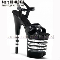 Free Shipping 8 inch high heels 2014 new waterproof platform club rivet sexy women's Ring foot belt shoes 20cm star party shoes