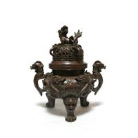 decoration art style Patchwork pure copper furnace copper incense burner copper incense burner copper Medium t10112906