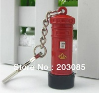 Best gift classic London styles metal mailbox key chain