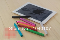 All color 100 pcs hexagonal Stylus Touch Pen with Metal material capacitive touch pen for mobile phone tablet PC free shipping