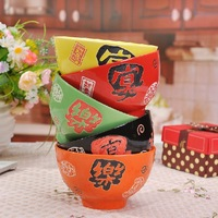 Ceramics bone china rice bowl 5-color rice bowl soup bowl single