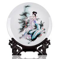 Hot-selling hot-selling wheel feng shui kowloon-10g gift ceramic decoration plate home living room decoration