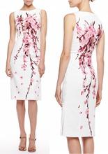 Cherry Blossom Jacquard Dress elegant White party dresses ML307(China (Mainland))