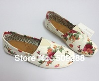 Free Shipping!women rose Canvas Shoes sneakers for female with Rose Flower Flat canvas Shoes