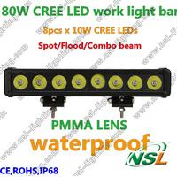 15Inch 80W  LED WORK LIGHT BAR FLOOD Offroad 4WD BOAT UTE SUV ATV Truck DRIVING LED Work Light Bar IP67