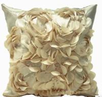 43*43cm single face butyl beige big embroidered pillowcase European car office decoration cushion cover