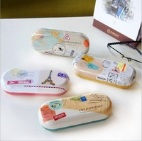 Free shipping Glasses box sundries storage box storage box small fresh global travel lens case