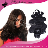 Natural Black Queen Virgin Brazilian Virgin Hair DHL Free Shipping Sooth & 100% No Tangle Beauty Brazilian Hair Bundle Deals