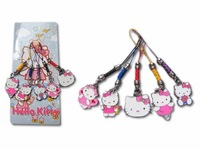 10 set /lot  Sanrio hello kitty Anime Characters 5 PCS Phone Straps  mix order C1206