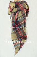 Free Shipping New Fashion Women Elegant Vintage Plaid Warm Scarf Brand Designer Classic Scarves Pashmina Style Muffler For Woman