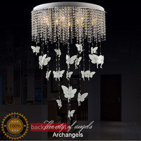 Modern Crystal Angel Ceiling Lights for Living room Ceiling Lamps Indoor Lighting Hanging Pendant Lamp Fixture D35cm