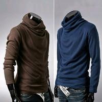 Big Size Men's Turtleneck Sweater men Super Cool Rotation Collar Cardigan Mens Ultrathin BaseShirt Mens Pullovers