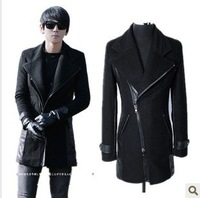 2013 men's spring and autumn clothing british style Men overcoat male slim medium-long woolen trench men's outerwear
