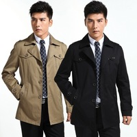 2013 men's autumn and winter clothing trench male trench medium-long outerwear male fashion slim overcoat male