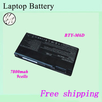 Brand New  Original  9-Cell 7800mah  laptop  Battery   For  MSI  BTY-M6D