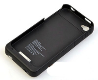 Brand New 1900 mAh External Backup Battery Charger Case for iPhone 4 4S Black White Blue Green