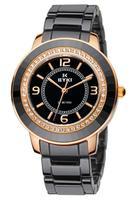 EYKI Brand Women Dress Watches/ Ladies Ceramic Quartz Watch with Diamond / Female Girls Hours New 2013 Wristwatches EMOS8633M