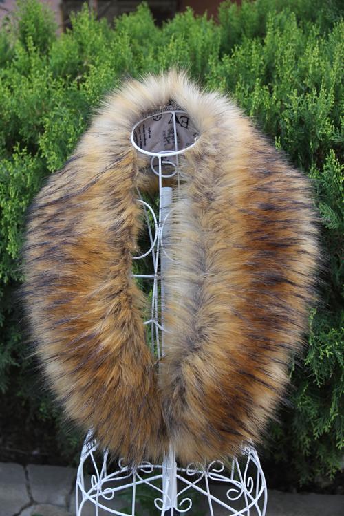 season end Discount Special Price Free shipping Large fox fur raccoon fur faux muffler scarf collar cap of false collar cape(China (Mainland))