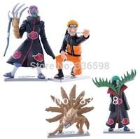 Naruto Action Figure Naruto: Shippuden 20th. 4pcs/set PVC Q Version Toys Gift