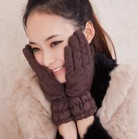 Thin casual plus cotton gloves elegant women's gloves winter