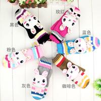 Princess rabbit autumn and winter women's yarn gloves rabbit winter thickening plush mitten