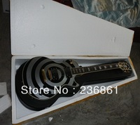 Wholesale High quality G - CHINA Les Custom Zakk Wylde EMG pickup silver gray/BLACK Electric guitar with case
