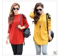 new winter sweater bottoming shirt bat loose big yards long section rendering shirt  p23355 wholesale ,free shipping