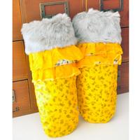 free shipping Women's down fabric mitten thermal thickening plus velvet full finger gloves