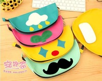 Wholesale Free Shipping 5 pcs / lot Mixed Design Cartoon Storage Bag Can Put Mouse Pad Function Bag Storage Case