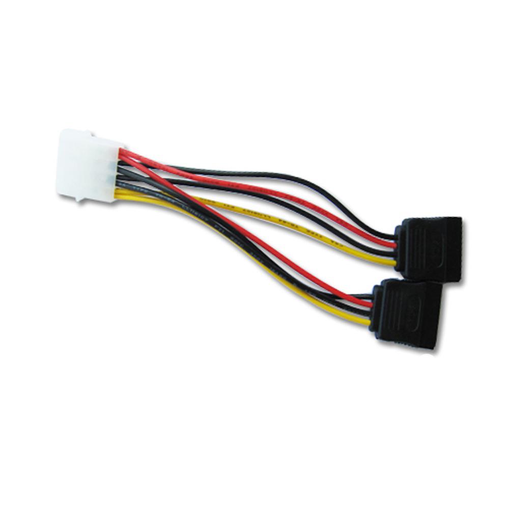 4Pin IDE To 2x15 Pin SATA Serial ATA Splitter Power Cable(China (Mainland))