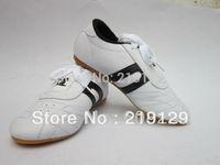 Taekwondo Kung Fu Wu Shu Karate Tai Chi Martial Training Two Stripe shoes Footwear Sneakers Free Shipping