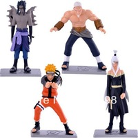 Free shipiping Cartoon collectibles / Naruto Characters doll model / delicate garage kit 28th 4pcs/set