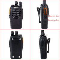 Walkie Talkie FM Radio Retevis 888s plus UHF 400-470 MHz 16CH 5W VOX Bright Flashlight Two-Way Radio A1080A