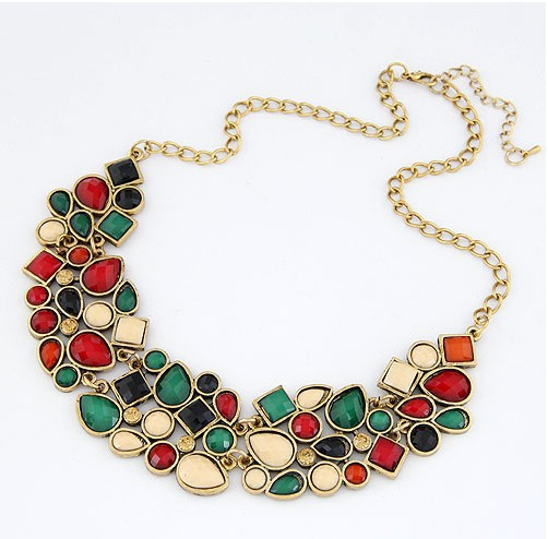European And American Fashion Jewel Simple Curved Teeth Temperament Short Necklace!#1815(China (Mainland))