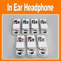 Free shipping 2013 new 5pcs/pack  In Ear Earphone With MIC with seven colors 0102038