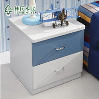 Modern child bedside cabinet small storage bed side cabinet two drawer cabinet 611