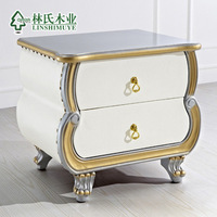 Faux leather fashion bedsprings bed side cabinet luxury small storage cabinet b47