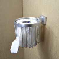 Free shipping Bathroom space aluminum tissue box tissue basket toilet paper holder toilet paper box toilet paper holder