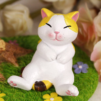 Zakka lucky cat home decoration desk rustic small decoration